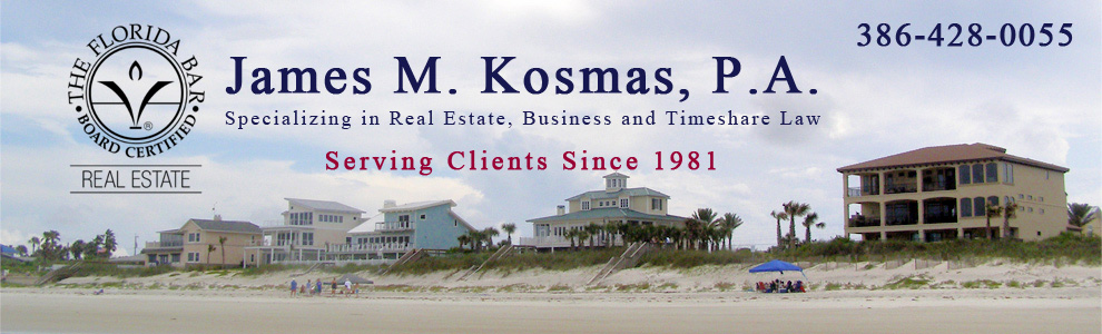 James M. Kosmas, Real Estate, Business and Timeshare Law